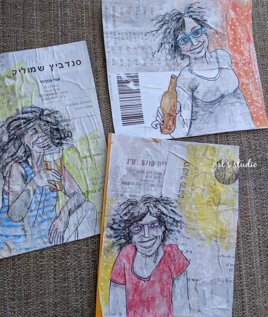 נשים רוקדות, שלוש גלויות