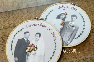 Embroidery over wedding images