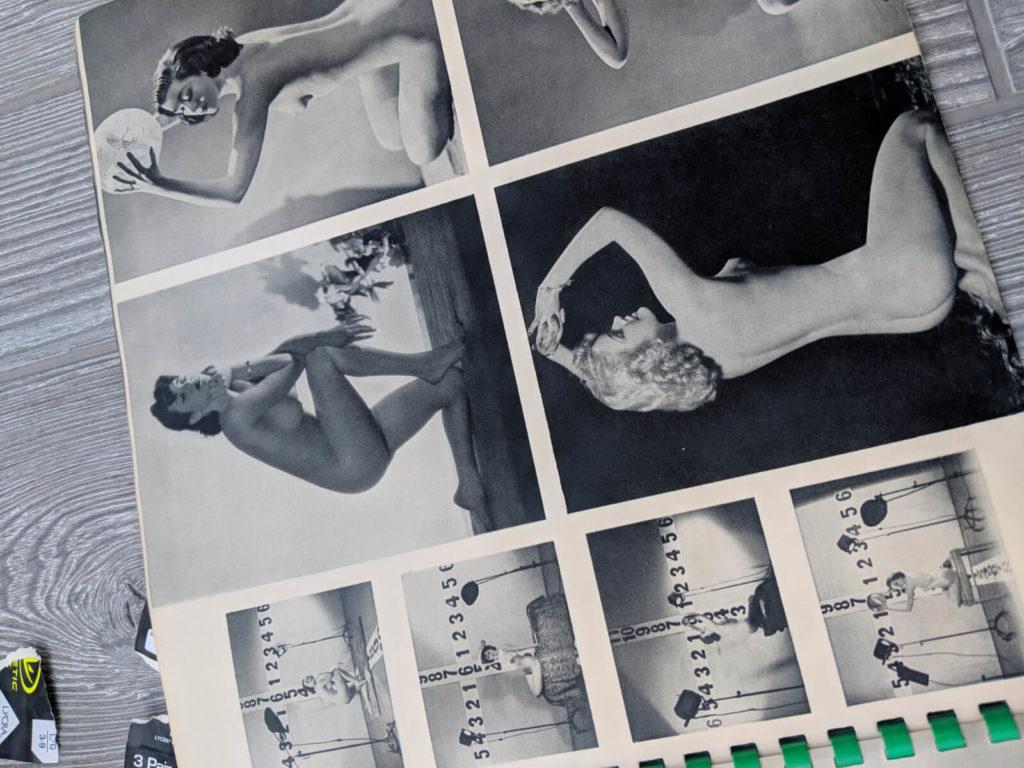 תקריבי צילומי דוגמניות בחוברת