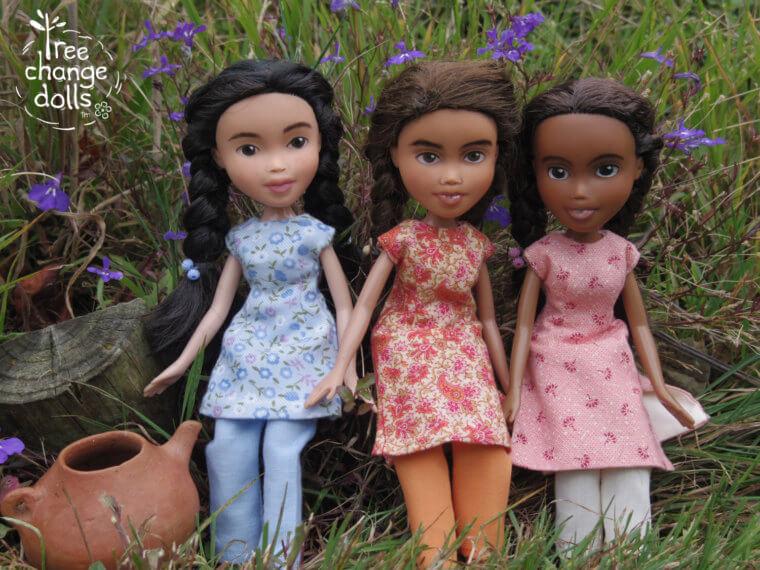 תמונה של הבובות שמשדרגת סוניה מ- tree-change-dolls